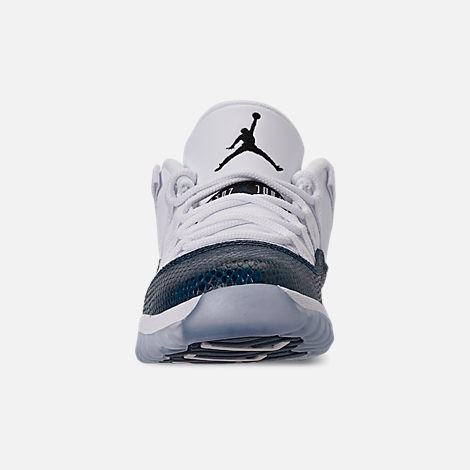 timeless design 4d009 8f778 Front view of Little Kids  Air Jordan Retro 11 Low LE Basketball Shoes in  White