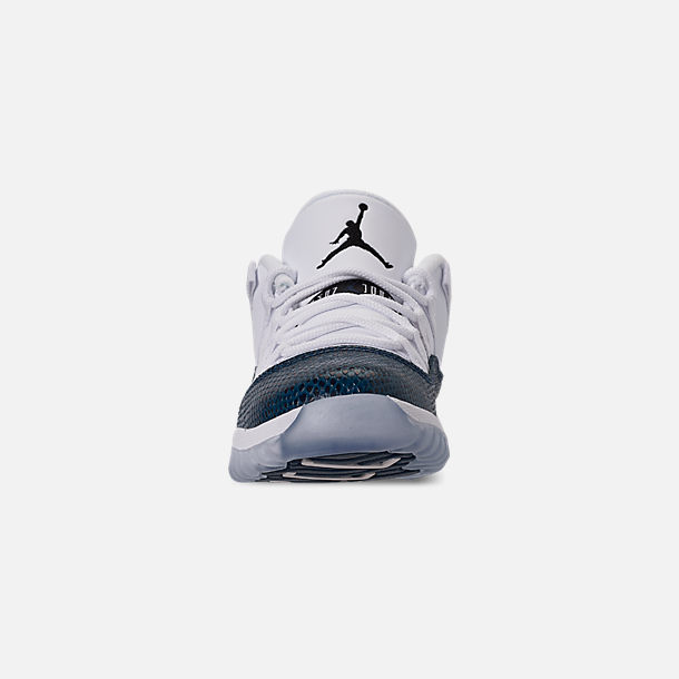 timeless design 90063 bfa6a Front view of Little Kids  Air Jordan Retro 11 Low LE Basketball Shoes in  White