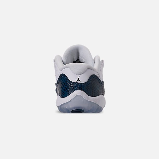 reputable site 3974f 8f069 Back view of Kids  Toddler Air Jordan Retro 11 Low LE Basketball Shoes in  White