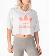 Women's adidas Originals EQT Trefoil Crop T-Shirt