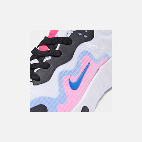 Front view of Girls' Big Kids' Nike Renew Lucent Running Shoes in White/Photo Blue/Hyper Pink/Black