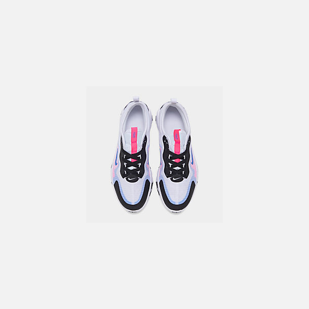 Back view of Girls' Big Kids' Nike Renew Lucent Running Shoes in White/Photo Blue/Hyper Pink/Black