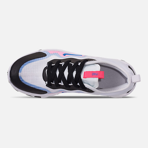 Top view of Girls' Big Kids' Nike Renew Lucent Running Shoes in White/Photo Blue/Hyper Pink/Black