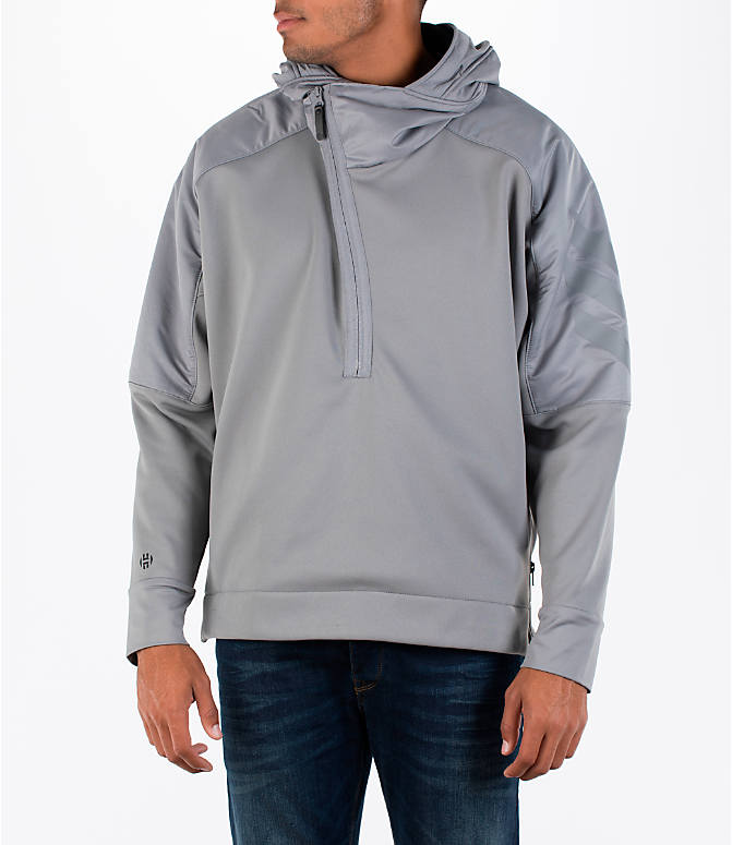 Front view of Men's adidas Harden MVP Sweatshirt in Grey