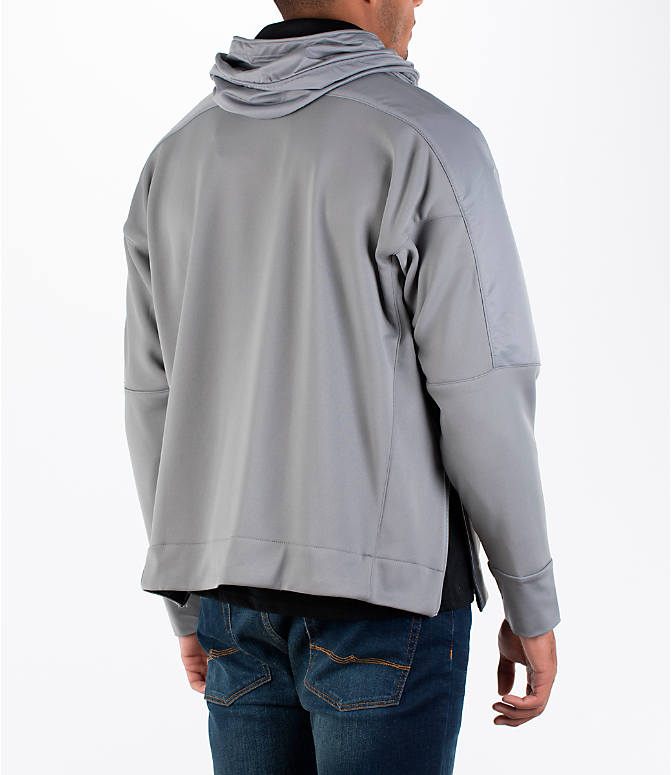 Back Right view of Men's adidas Harden MVP Sweatshirt in Grey