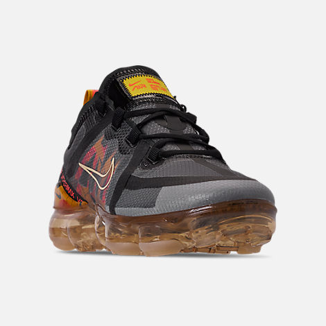 buy popular 590d0 1d2fa Three Quarter view of Women s Nike Air VaporMax 2019 SE Running Shoes in  Black Bright