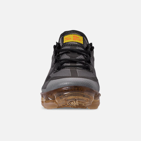 Front view of Women's Nike Air VaporMax 2019 SE Running Shoes in Black/Bright Crimson/University Gold