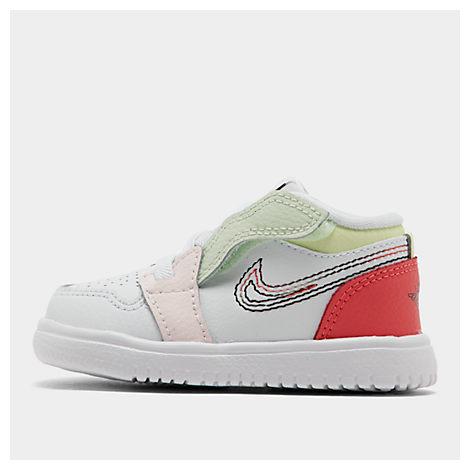 half off b321a b83dc Jordan Girls' Toddler Air Jordan Retro 1 Low Alt Casual Shoes, White - Size  9.0