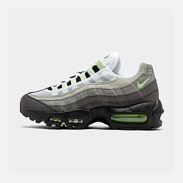 Right view of Men's Nike Air Max 95 OG Casual Shoes in White/Mint/Granite/Medium Ash