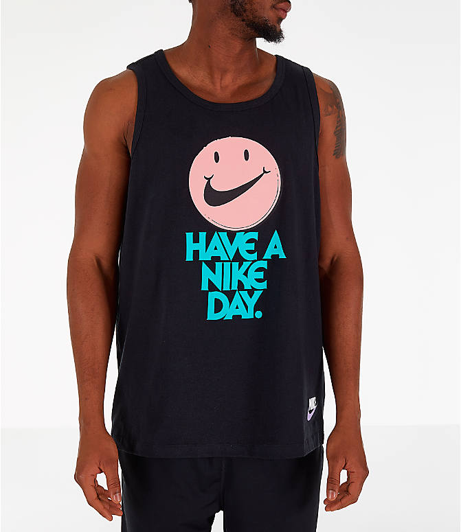 Front view of Men's Nike Sportswear Have a Nike Day Tank in Black