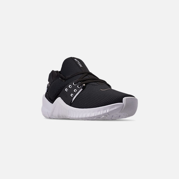 Three Quarter view of Women's Nike Free Metcon 2 Training Shoes in Black/White