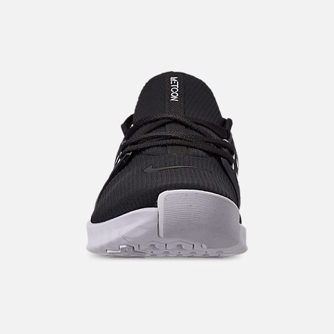 Front view of Women's Nike Free Metcon 2 Training Shoes in Black/White