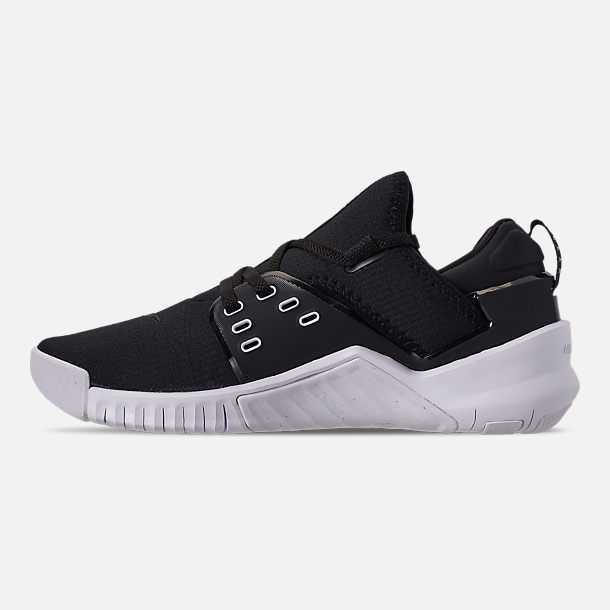 Left view of Women's Nike Free Metcon 2 Training Shoes in Black/White
