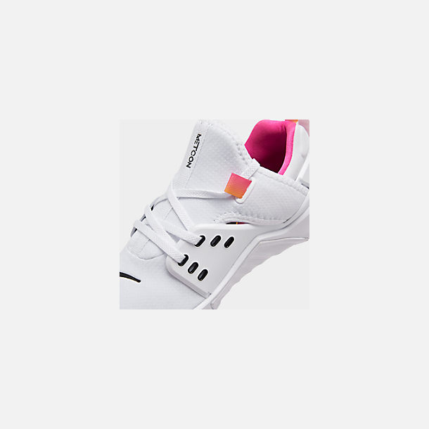 Front view of Women's Nike Free Metcon 2 Training Shoes in White/Black/Laser Fuchsia