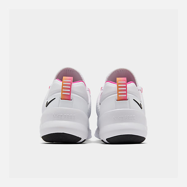 Left view of Women's Nike Free Metcon 2 Training Shoes in White/Black/Laser Fuchsia