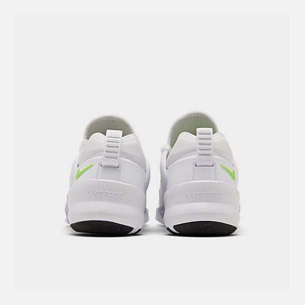 Left view of Women's Nike Free Metcon 2 Training Shoes in White/Electric Green/Black