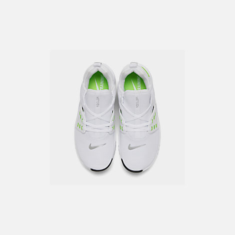 Back view of Women's Nike Free Metcon 2 Training Shoes in White/Electric Green/Black