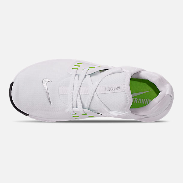 Top view of Women's Nike Free Metcon 2 Training Shoes in White/Electric Green/Black