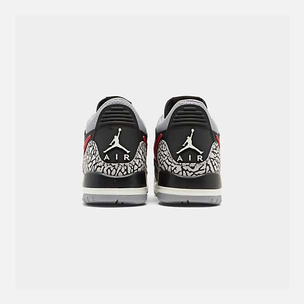 Left view of Boys' Big Kids' Jordan Legacy 312 Low Off-Court Shoes in Black/Varsity Red/Black/Cement Grey