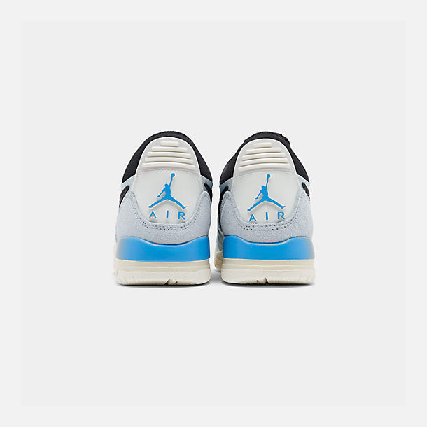 Left view of Boys' Big Kids' Jordan Legacy 312 Low Off-Court Shoes in Pale Blue/University Blue/Black/Sail