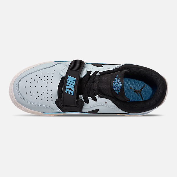 Top view of Boys' Big Kids' Jordan Legacy 312 Low Off-Court Shoes in Pale Blue/University Blue/Black/Sail