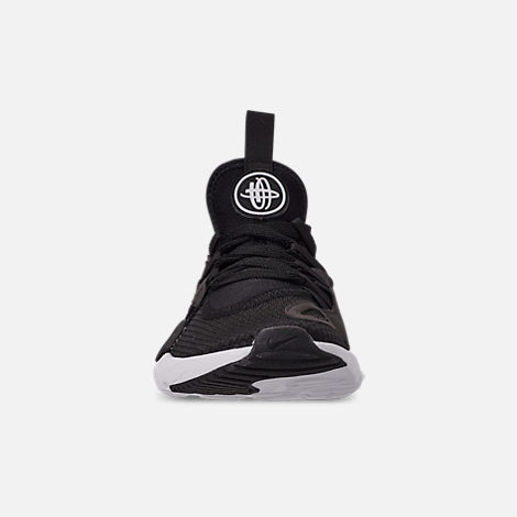 Front view of Boys' Big Kids' Nike Huarache E.D.G.E. TXT Casual Shoes in Black/Black/White