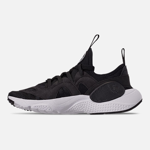 Left view of Boys' Big Kids' Nike Huarache E.D.G.E. TXT Casual Shoes in Black/Black/White
