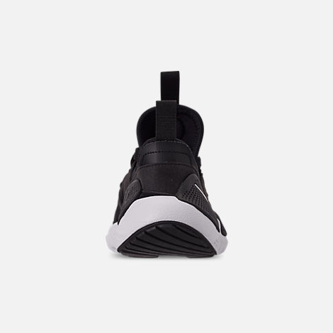 Back view of Boys' Big Kids' Nike Huarache E.D.G.E. TXT Casual Shoes in Black/Black/White