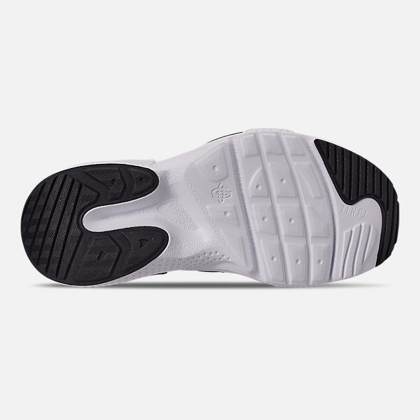 Bottom view of Boys' Big Kids' Nike Huarache E.D.G.E. TXT Casual Shoes in Black/Black/White