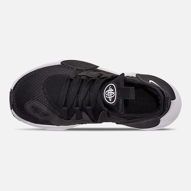 Top view of Boys' Big Kids' Nike Huarache E.D.G.E. TXT Casual Shoes in Black/Black/White