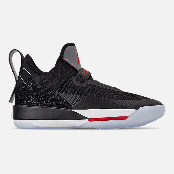 newest ffc87 60c85 Right view of Men's Jordan XXXIII SE Basketball Shoes in Black/Fire  Red/Particle