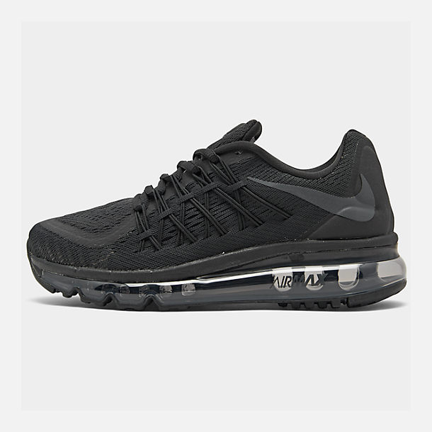 Right view of Boys' Big Kids' Nike Air Max 2015 Casual Shoes in Black/Anthracite