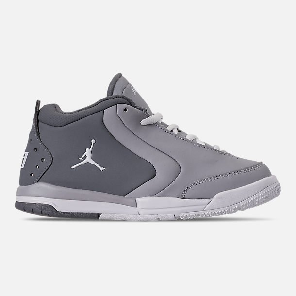 Right view of Boys' Little Kids' Air Jordan Big Fund Basketball Shoes in Cool Grey/White/Wolf Grey