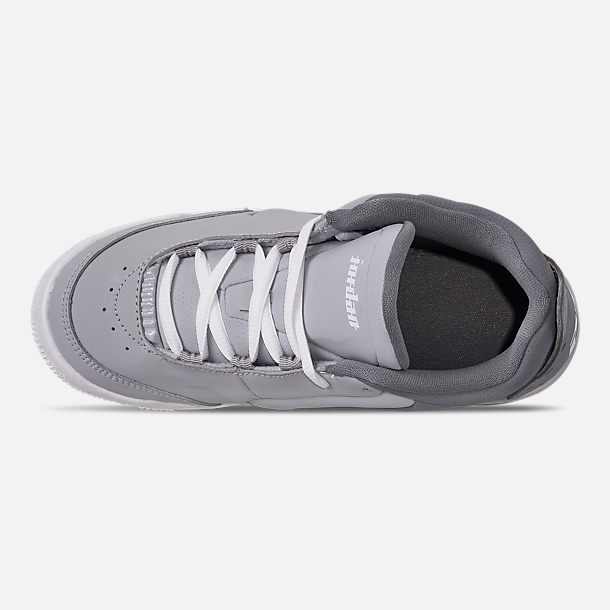 Top view of Boys' Little Kids' Air Jordan Big Fund Basketball Shoes in Cool Grey/White/Wolf Grey