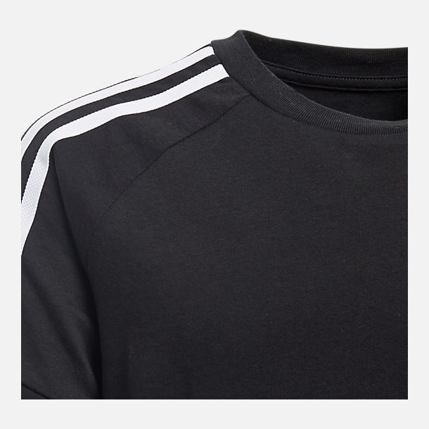 Back view of Kids' adidas Originals California T-Shirt in Black/White
