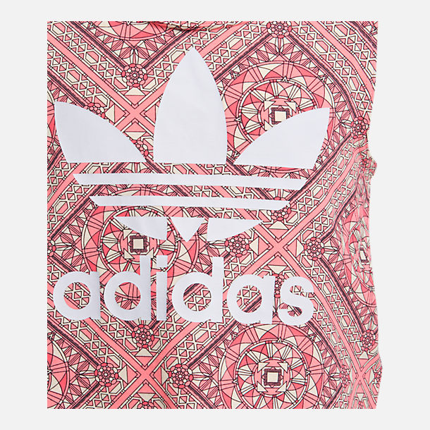 Back view of Girls' adidas Originals Graphic Tank in Pink/Multi