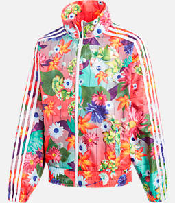Girls' adidas Originals Floral Windbreaker Jacket Product Image