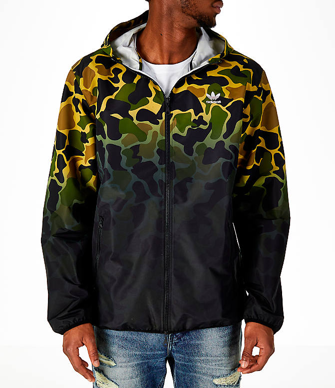 men 39 s adidas originals camouflage windbreaker jacket. Black Bedroom Furniture Sets. Home Design Ideas