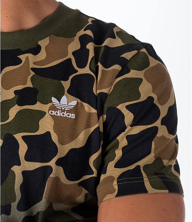 Detail 1 view of Men's adidas Originals Camouflage Fade T-Shirt in Camo/Black