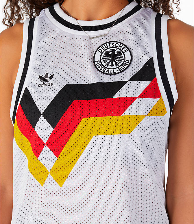 Detail 1 view of Women's adidas Originals Germany Tank Dress in White