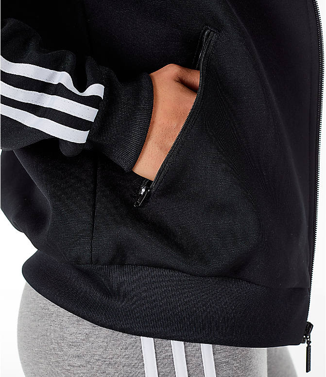 get cheap 4a263 083c6 Detail 2 view of Women s adidas Originals Superstar Track Jacket in  Black White