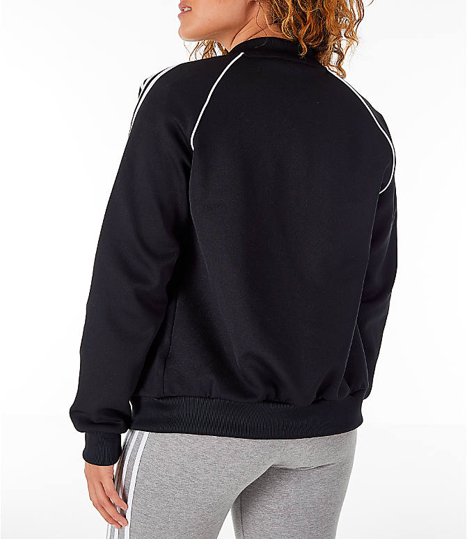 Back Left view of Women's adidas Originals Superstar Track Jacket in Black/White