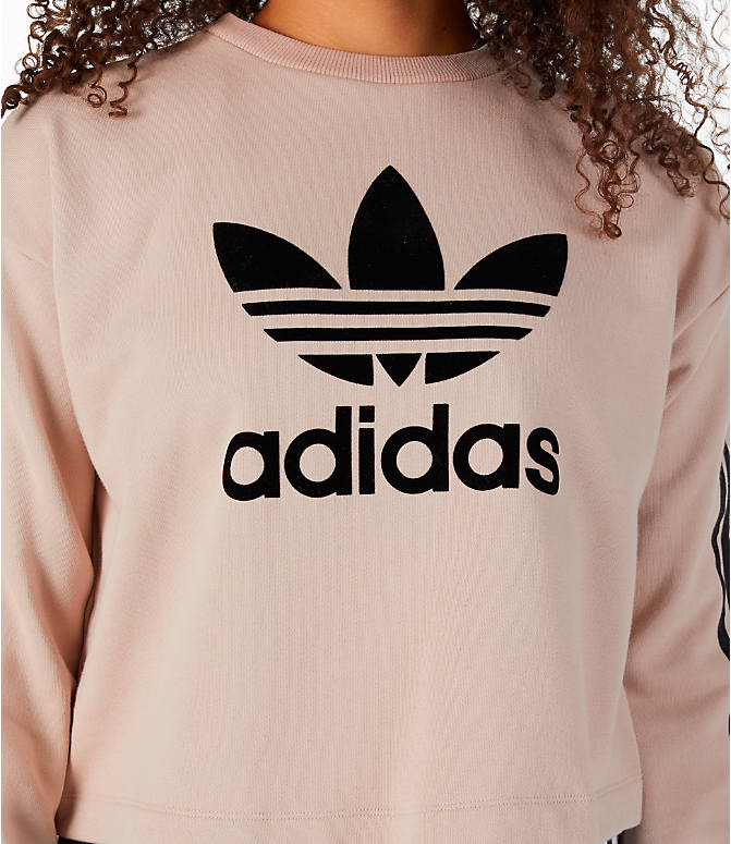 Detail 1 view of Women's adidas Originals Fashion League Sweatshirt in Pearl Pink