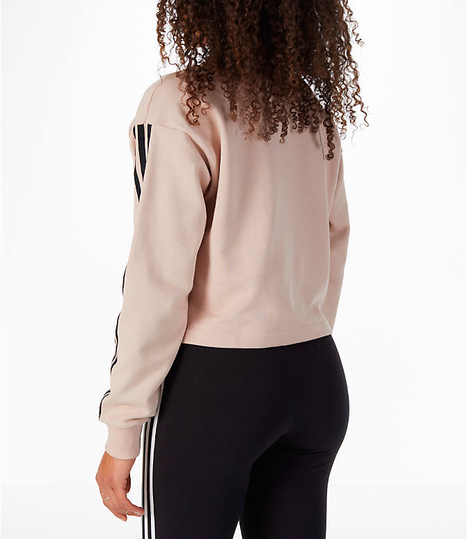 Back Left view of Women's adidas Originals Fashion League Sweatshirt in Pearl Pink