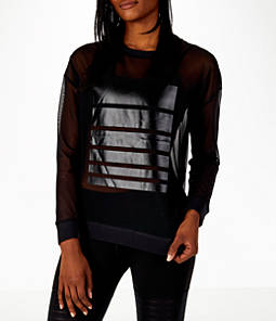 Women's Reebok Dance Mesh Long Sleeve Shirt