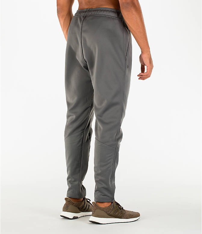 Back Right view of Men's adidas Harden MVP Sweatpants in Grey