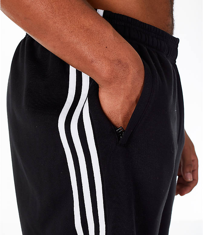Detail 1 view of Men's adidas Originals 3-Stripe Shorts in Black/White