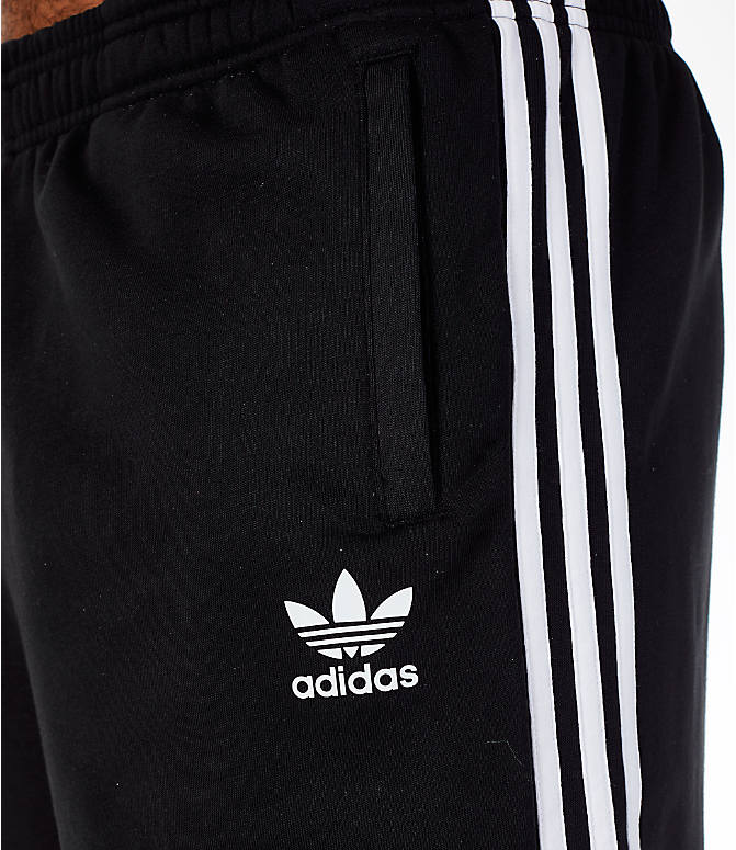 Detail 2 view of Men's adidas Originals 3-Stripe Shorts in Black/White