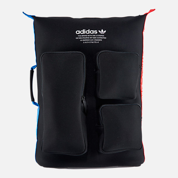 Front view of adidas Originals NMD Day Backpack in Black