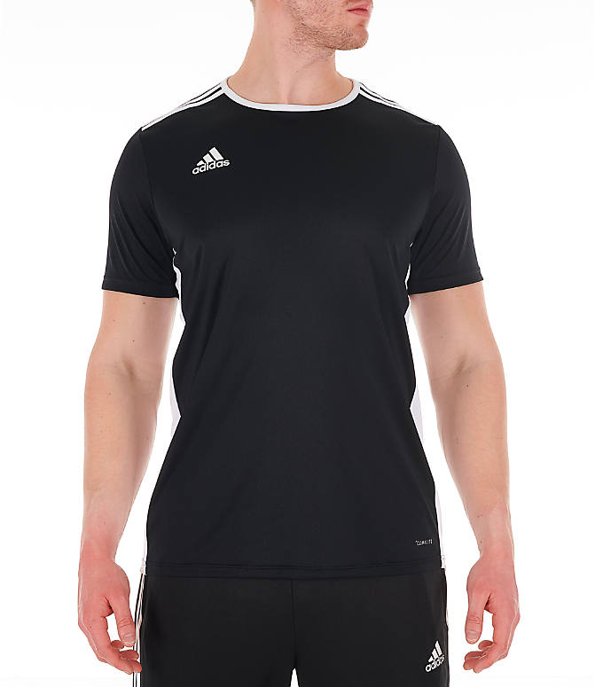 Front view of Men's adidas Entrada18 Soccer Jersey in Black